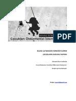 Silahlı Çatışmanın Sürdüğü İllerde Çocukların Durumu Raporu (26 Temmuz-31 Aralık 2015)