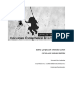 Silahlı Çatışmaların Sürdüğü İllerde Çocukların Durumu Raporu (26 Temmuz-30 Kasım 2015)
