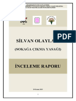 Silvan Olayları (Sokağa Çıkma Yasağı) İnceleme Raporu (3-14 Kasım 2015)