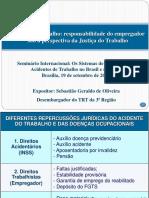 Sebastiao Oliveira TRT Seminário Internacional Brasília 2014