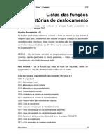 Lista de Funções Do CNC