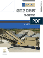 GT205s 3 Deck Manual de Partes