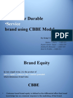 Study of Fmcg+Service+Consumer Durable Brand Using CBBE Model