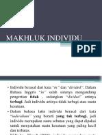 MAKHLUK INDIVIDU