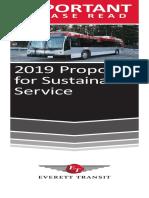 Service Change 2019 Booklet