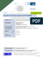 ETA 09 0295 for HIT-RE 500-SD Injection Mortar for Rebar ETAG 001-05 Option 1 Approval Document ASSET DOC APPROVAL 0172