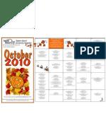 Monthly Calendar October 2010