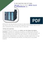 Tipos de Datos en s7