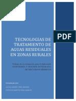 TECNOLOGIAS DE TRATAMIENTO DE AGUAS RESIDUALES EN ZONAS RURALES