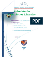 Ecuaciones Lineales y No Lineales FINAL