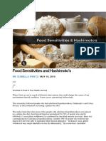 Food Sensitivities and Hashimoto