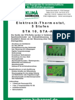 Elektronik - Thermostat, 5 Stufen STA 10, STA - AHK