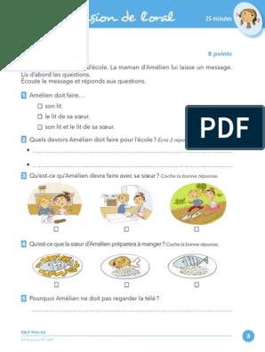 A2 Comprehension De L Oral Exercice 1
