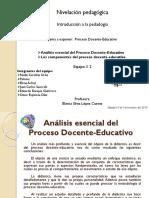 Análisis Esencial Del Proceso Docente Educativo y Componentes