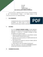 Demanda de Indemnizacion Antonio de La Cuba