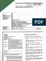 ABNT NBR 5380 - Transformadores de Potencia Maio 1993 (Cancelada Usar a 5356)