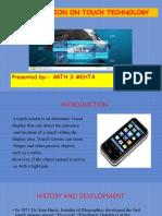 Touch Screen Technology(Arth)