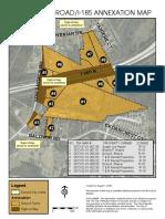 LOG SHOALS ROAD/I-185 ANNEXATION MAP