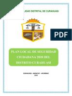 Plan de seguridad ciudadana del distrito de Curahuasi