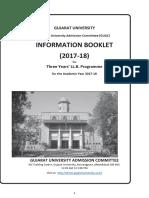 LL.B. Three Year Programme Information Booklet 2017-18