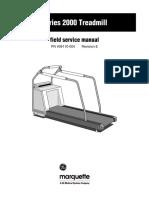 Manual de Servicio Treadmill 2000