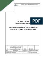 P.D.T. N 023.2 (TRAFO 30-30-20)