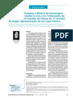 Extrabucal Occipital (I.H.G.) no Tratamento de