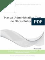 Manual Administrativo Tipo de Obras Públicas 2018