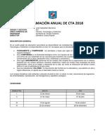 Programacion  Curricular Anual de  CTA  4°  Secundaria 2018 - Ccesa007