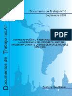 Conflicto Político y Reforma Estructural