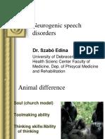 Neurogenic Speech Disorders