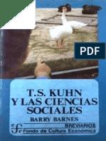 Barry Barnes Kuhn y Las Ciencias Sociales