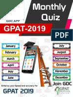 Monthly Quiz 2019