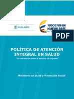 Poitica de Atención Integral en Salud PAIS_MIAS