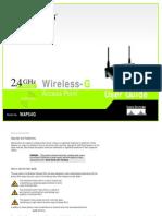 Linksys WAP54G  Manual