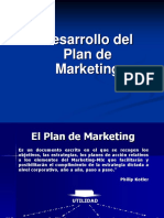 Desarrollo Del Plan de Marketing