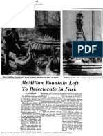 McMillan Fountain Left to Deteriorate in Park