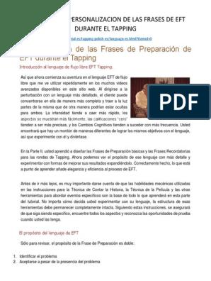 02g Personalizacion De Las Frases De Eft Durante El Tapping