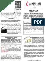 Bulletin Supplement August 5 2018