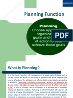 The Planning Function
