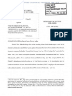 Motion to Dismiss Order for case filed by Rod Wheeler against Fox News Network et al.