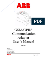 2CMT001823 B3 en GSM GPRS Communication Adapter CGM 05000 Users Manual