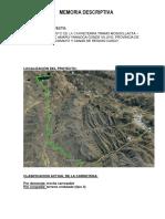 Memoria Descriptiva Mejoramiento de La Carretera Ta 109 Tramo Ticaco Candarave