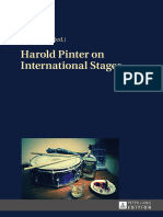 Onič, Tomaž_ Pinter, Harold-Harold Pinter on International Stages-Peter Lang GmbH, Internationaler Verlag Der Wissenschaften (2014)
