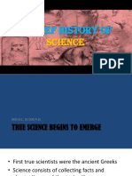 2 a Brief History of Science TRUE SCIENCE BEGINS