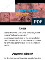 1 a Brief History of Science FIRST INKLINGS