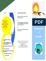 Folheto Proteção dos Idosos conta Vagas de Calor
