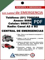 MCP SSO MAN O150 ANX3 Cartilla Numeros de Emergencias