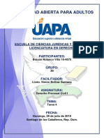 Tarea 4 Derecho Procesal Civil I 29-07-2018