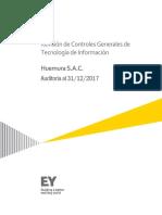 Borrador Carta de Observaciones Huemura SAC - Auditoría 2017